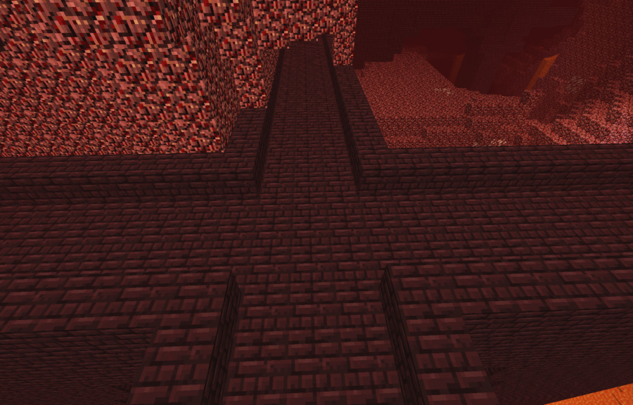 Minecraft Nether Fortress Inside Nether Fortress Crossing